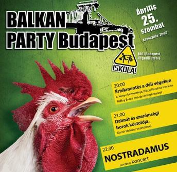 Yu Party, Balkán Party, Balkan Party, 2015. április 25, Iskola